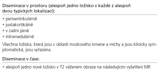 Nová kritéria (2006).