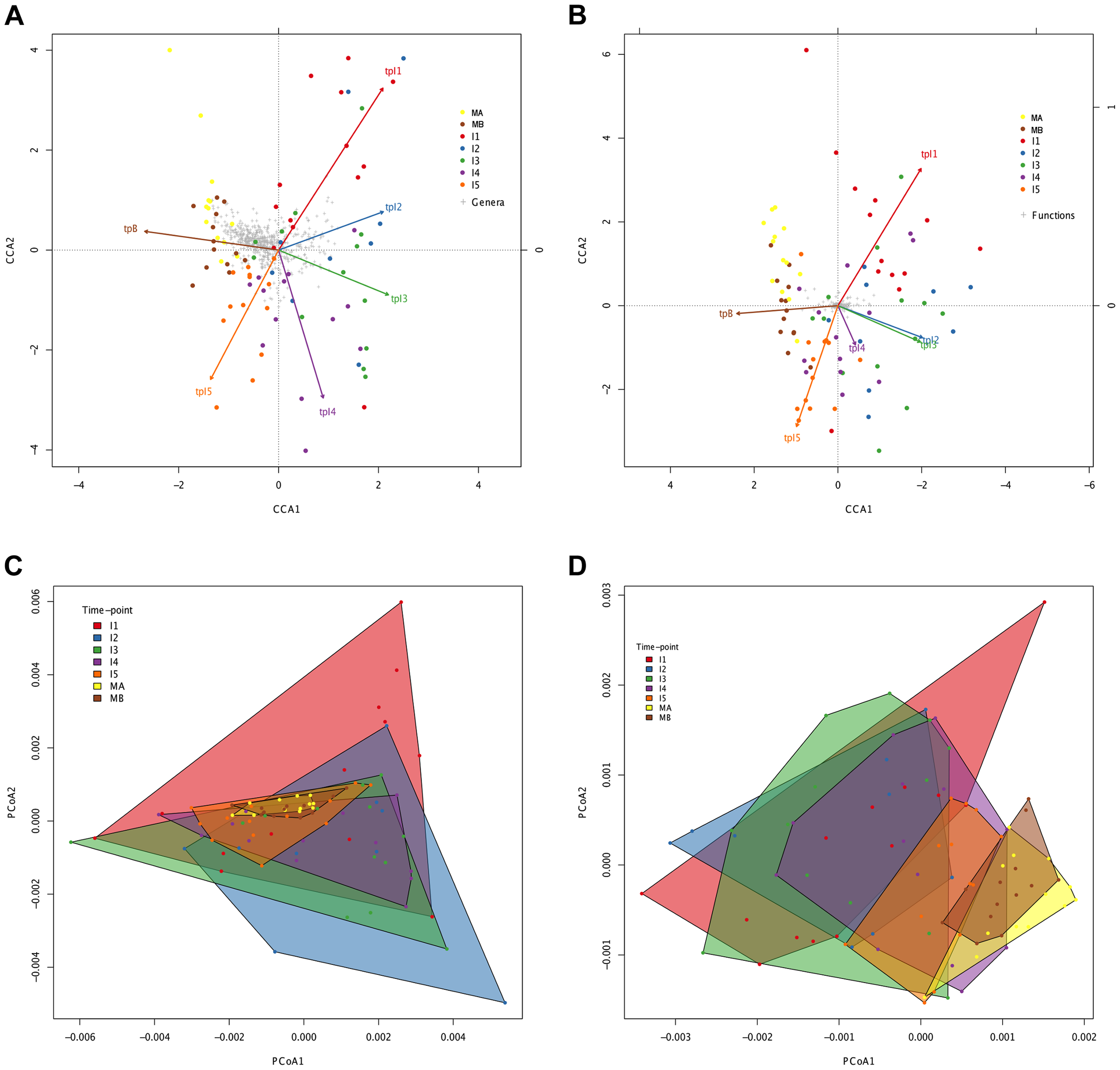 Directionality in taxonomic and functional change through time.