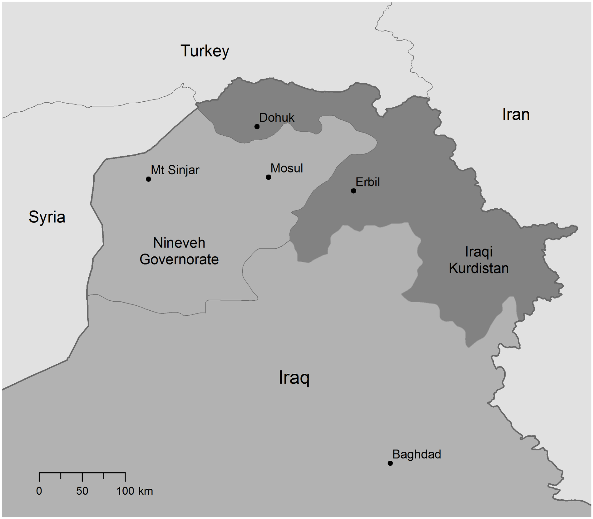 Map of Northern Iraq.