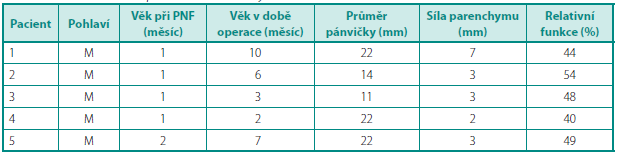 Charakteristiky pacientů sprodělanou APN Table 1. Characteristics of patients with ahistory of APN