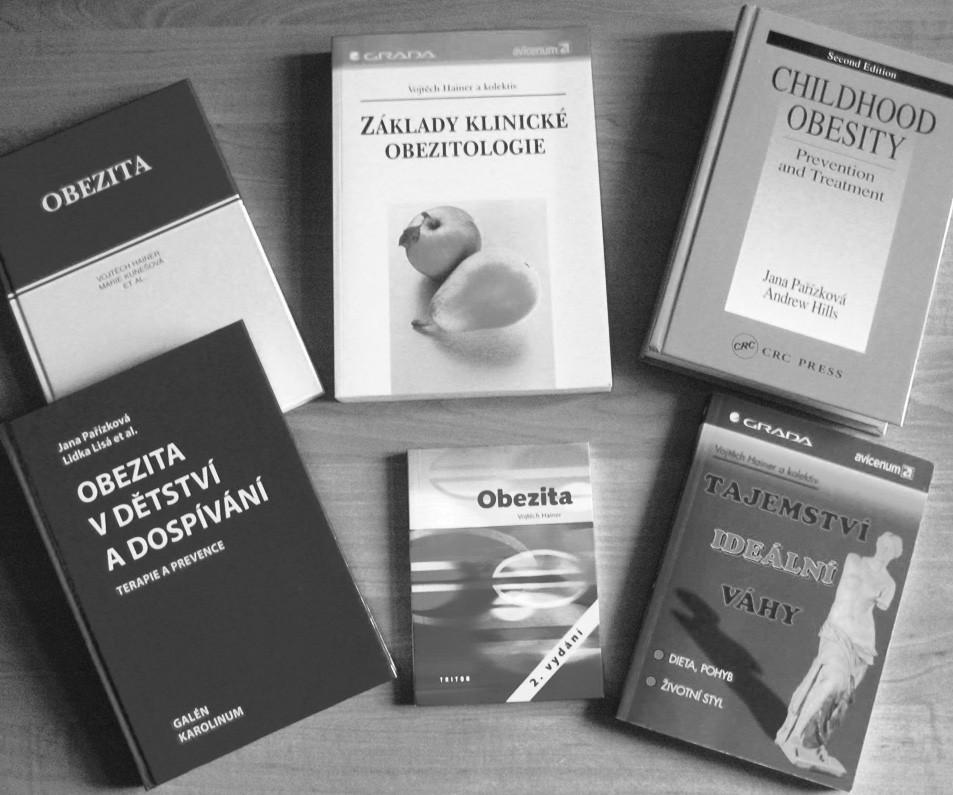 Knižní publikace o obezitě, jejichž autoři jsou členy týmu Obezitologické jednotky