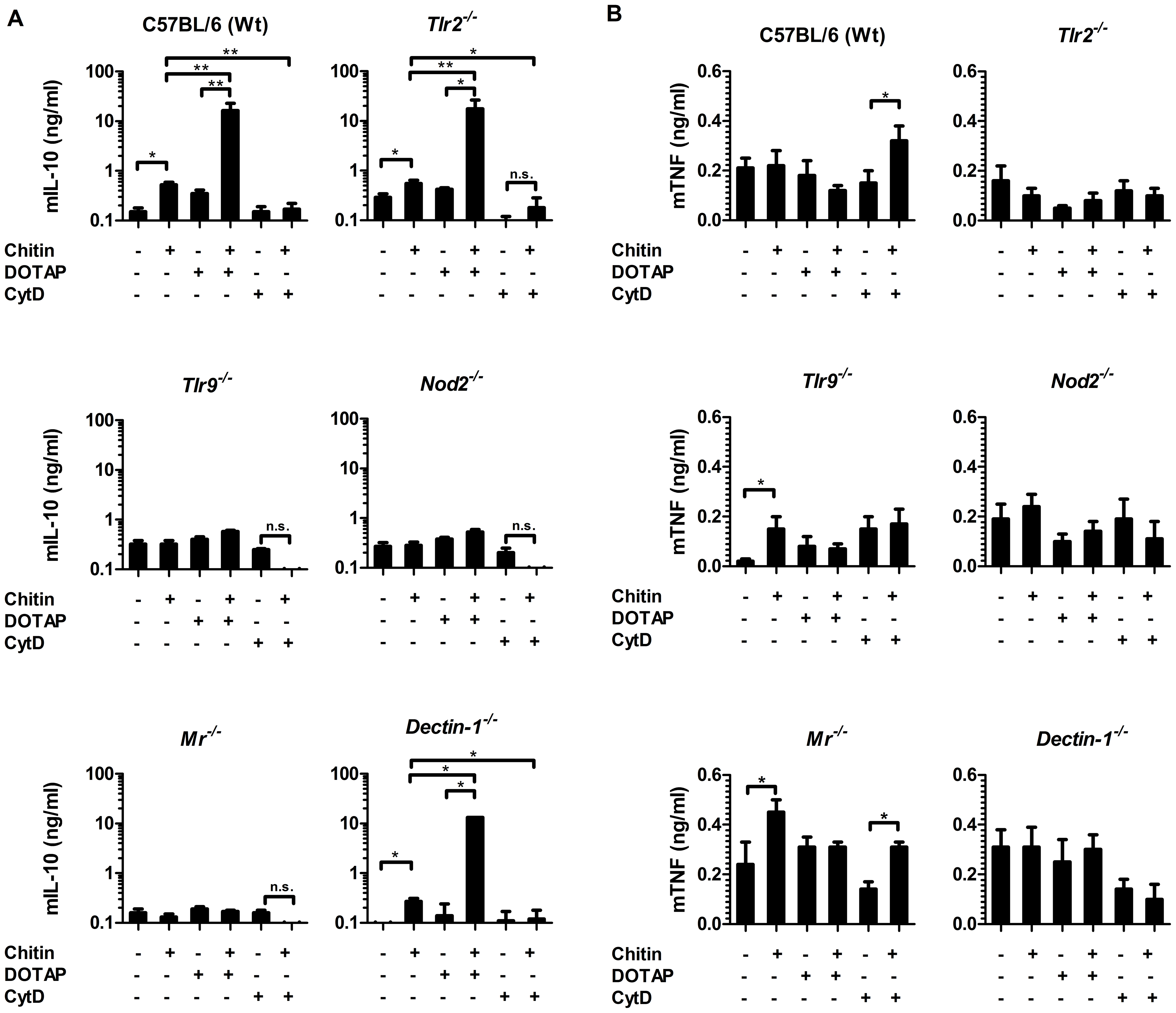 Chitin induced IL-10 secretion requires mannose receptor interaction but not uptake.
