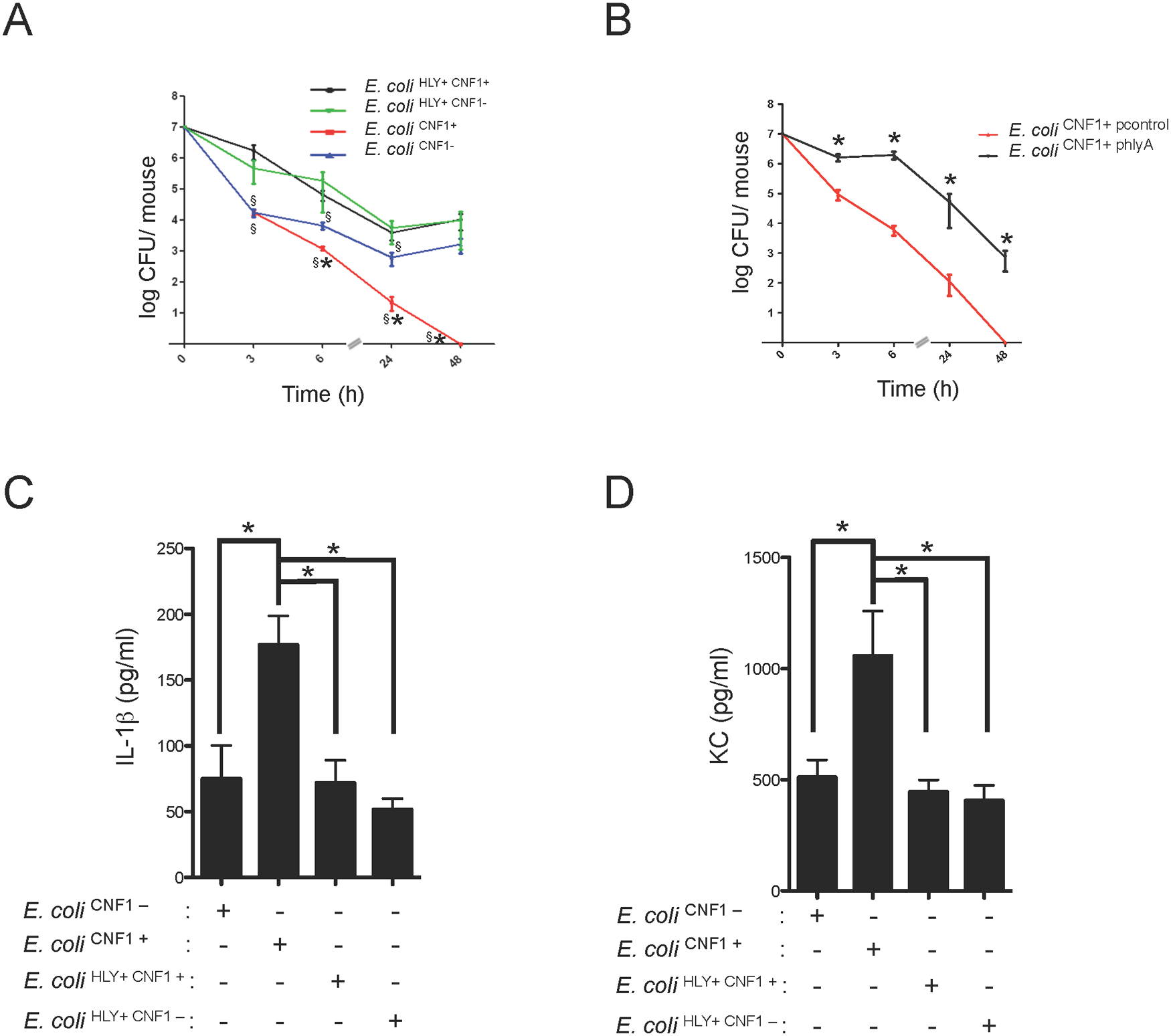 HlyA counteracts the CNF1-induced host response.