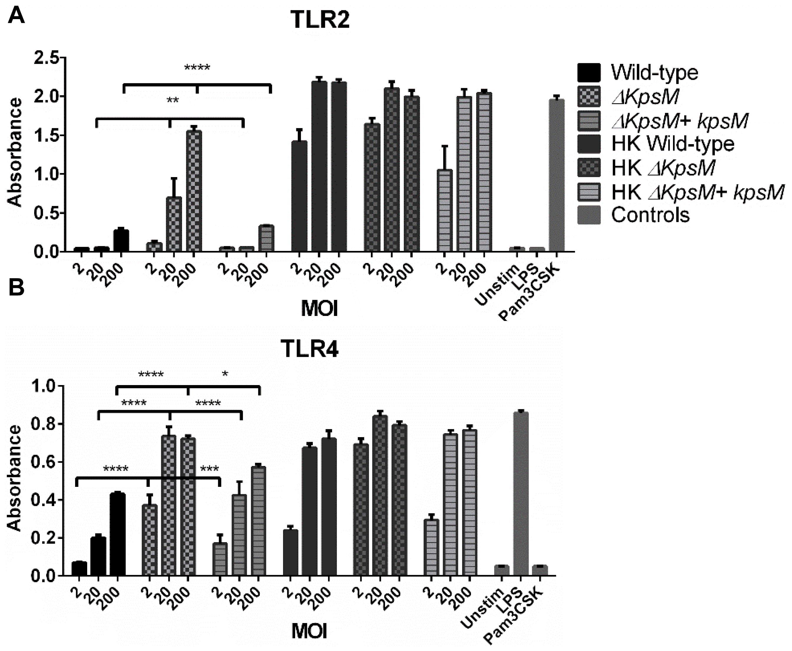 TLR2 and 4 reporter assays.