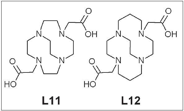 CB-DO2A (L11), CB-TE2A (L12).