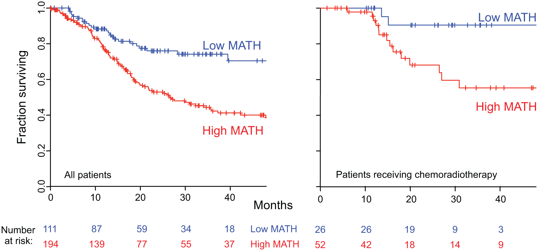 Relation of intra-tumor heterogeneity to overall survival in HNSCC.