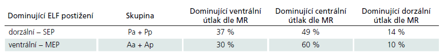 Vztah předoperační elektrofyziologické a grafické (MR) patologie.