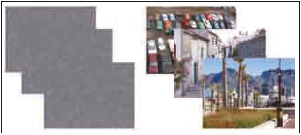 Příklady stimulů použitých v průběhu kognitivního vizuálního úkolu (vpravo). Vlevo kontrolní obrazce.
