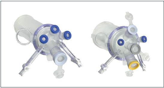 Obr. 1a. Vlevo TriPort+<sup>TM</sup>, vpravo QuadPort+<sup>TM</sup> (Olympus) Fig. 1a. TriPort+TM (left), QuadPort+ TM (right), fi gure published with permission of Olympus