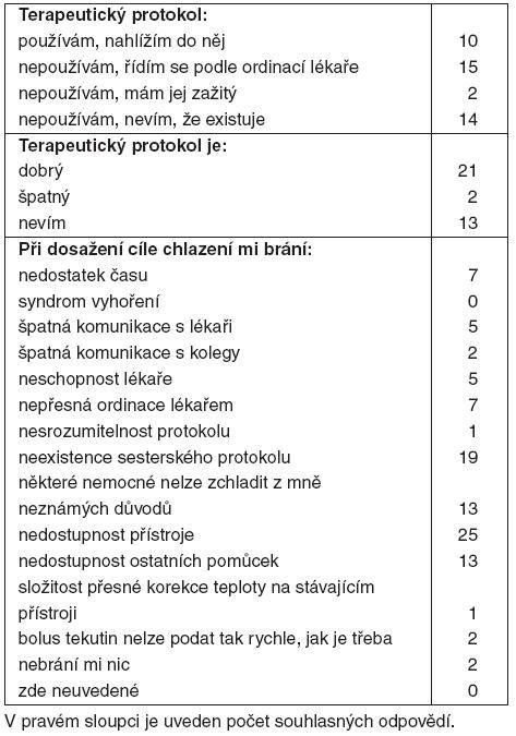Výsledky – sestry (41 respondentů)