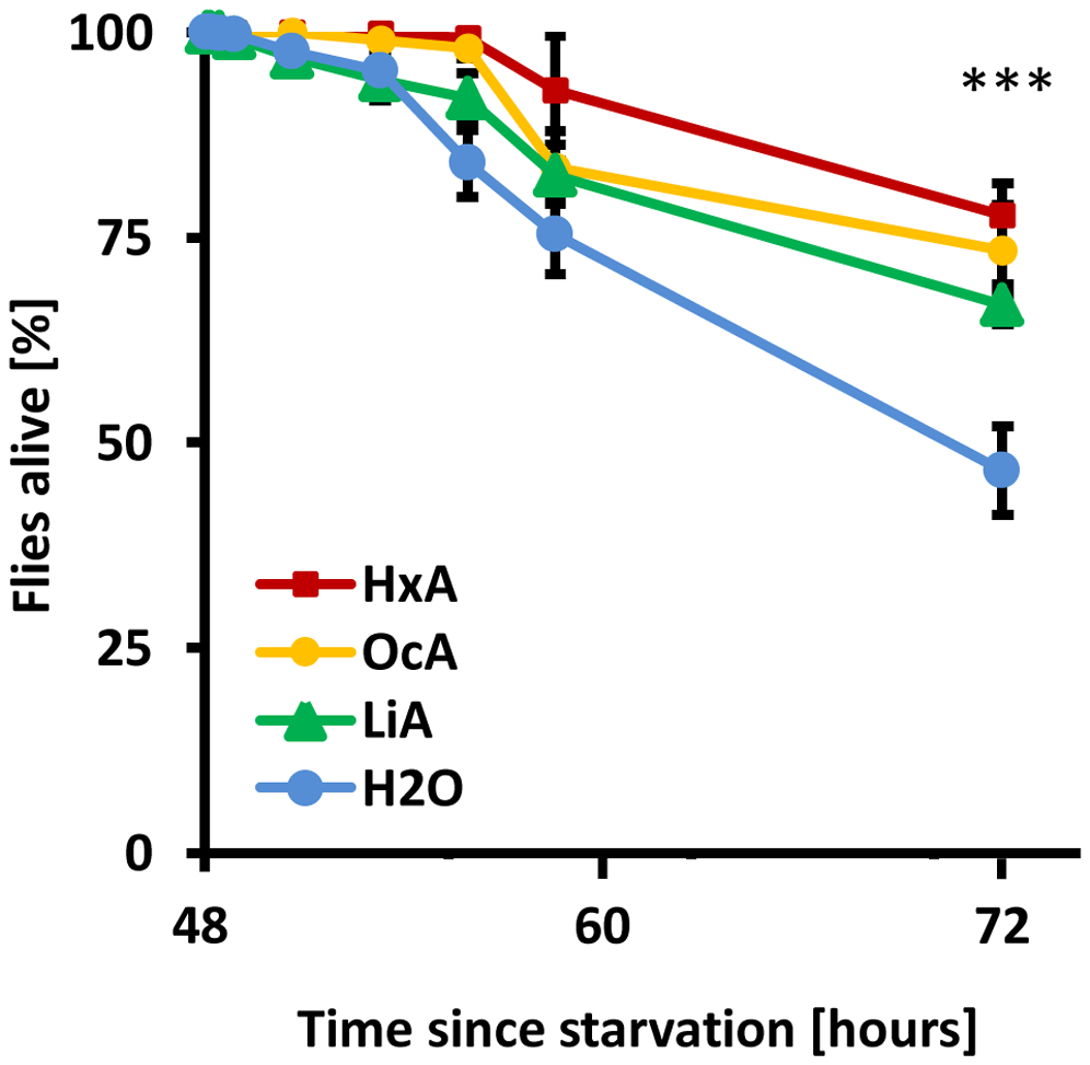 Dietary fatty acids are sufficient for survival.