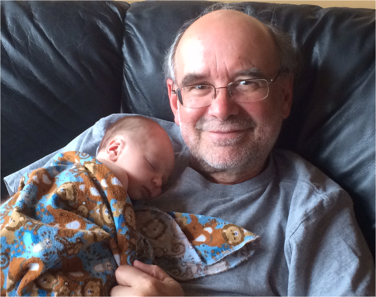 Grant McFadden and his grandson.