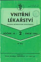 Vnitřní lékařství – 39. ročník (rok 1993)