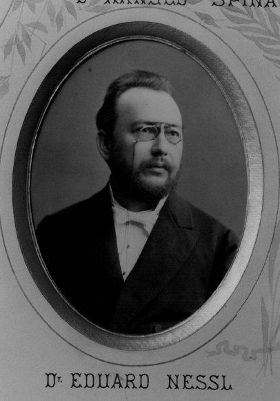 Eduard Nessel, profesor zubního lékařství (14. 1. 1851 - 8. 5. 1920).