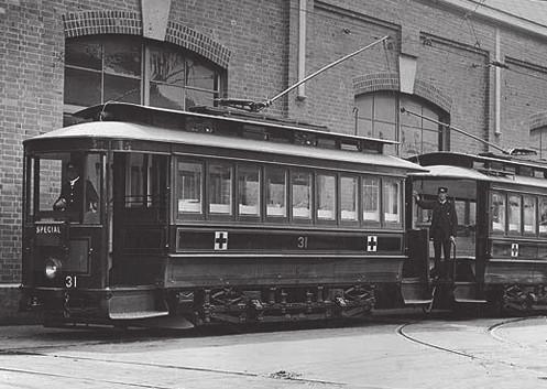 Sanitní tramvaj, Sidney (Publikováno se svolením State Records Authority of New South Wales)