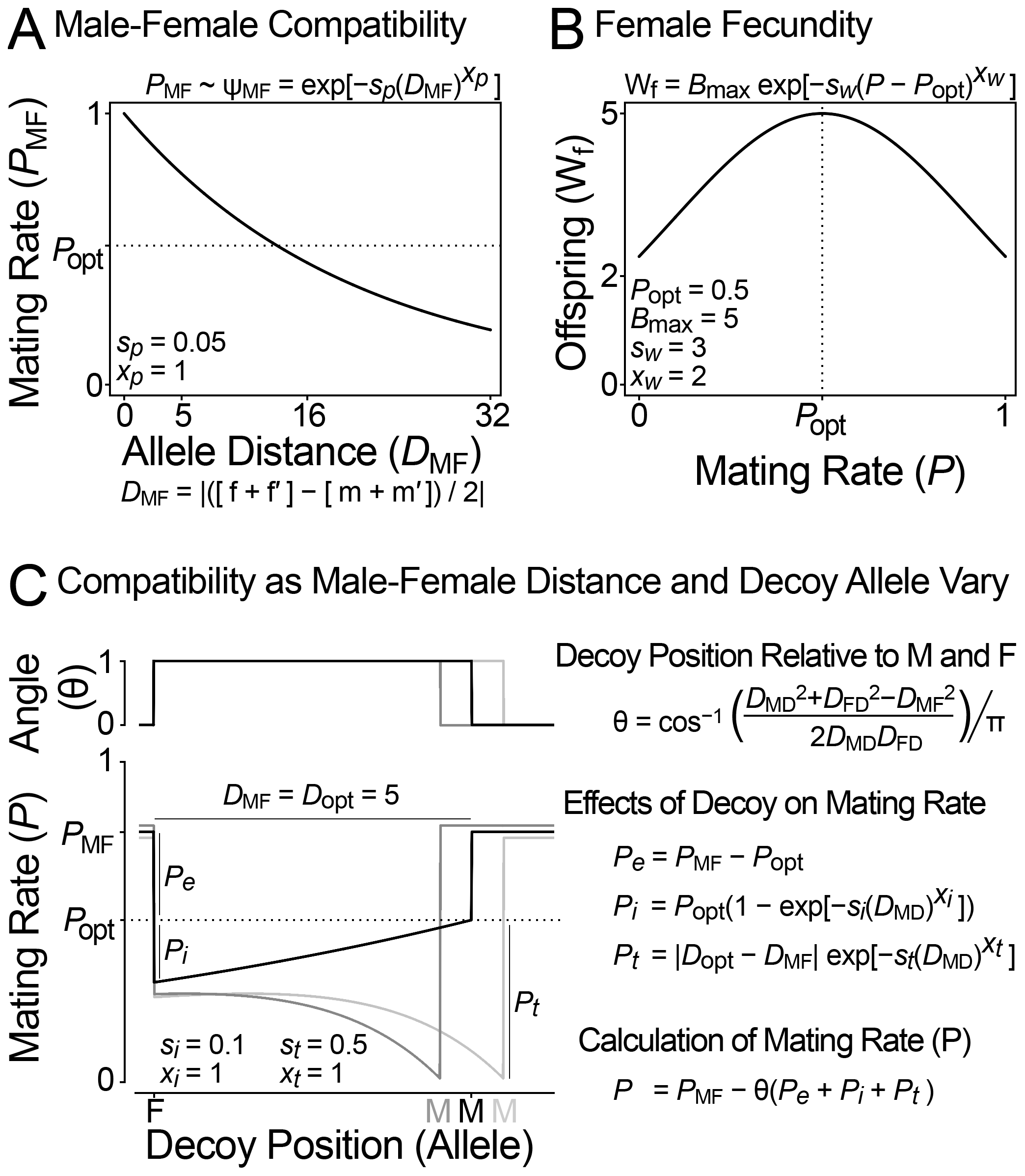 Model of sexual conflict with a female decoy.