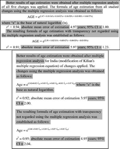 Nahoře ukázka z článku dr. Račanské, dole v predátorském časopise vydaný plagiát (shodné pasáže zvýrazněny)
