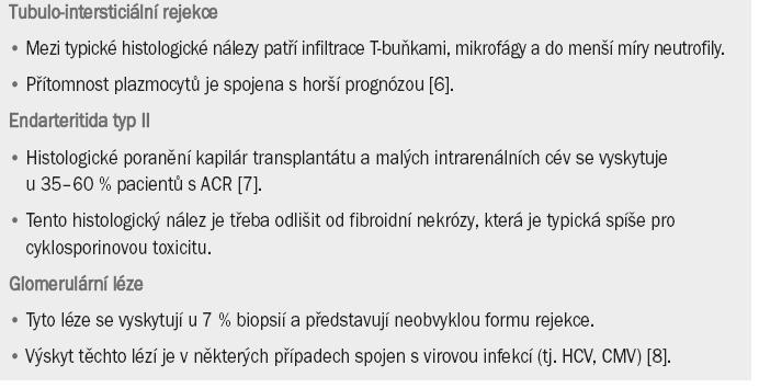 Akutní buněčná rejekce (ACR) vyvolaná T-buňkami.