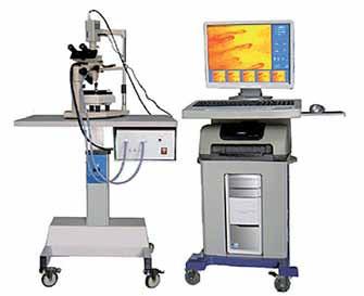 Videokapilaroskop, mikroskop propojený s videem a počítačové zpracování obrazu.