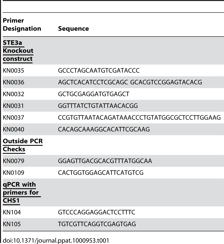 PCR Primers.