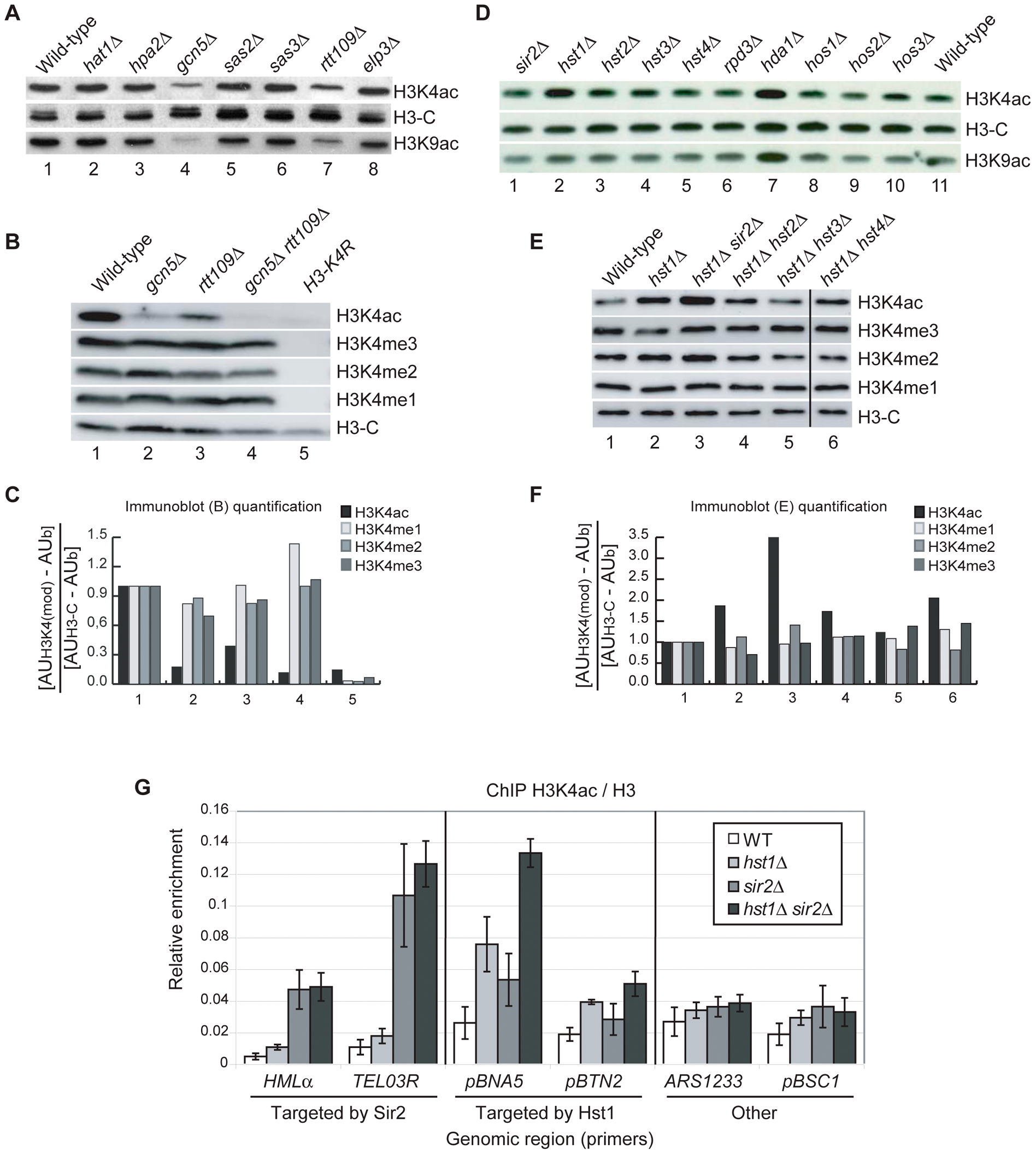 HATs and HDACs That Contribute to H3K4ac <i>In Vivo</i>.