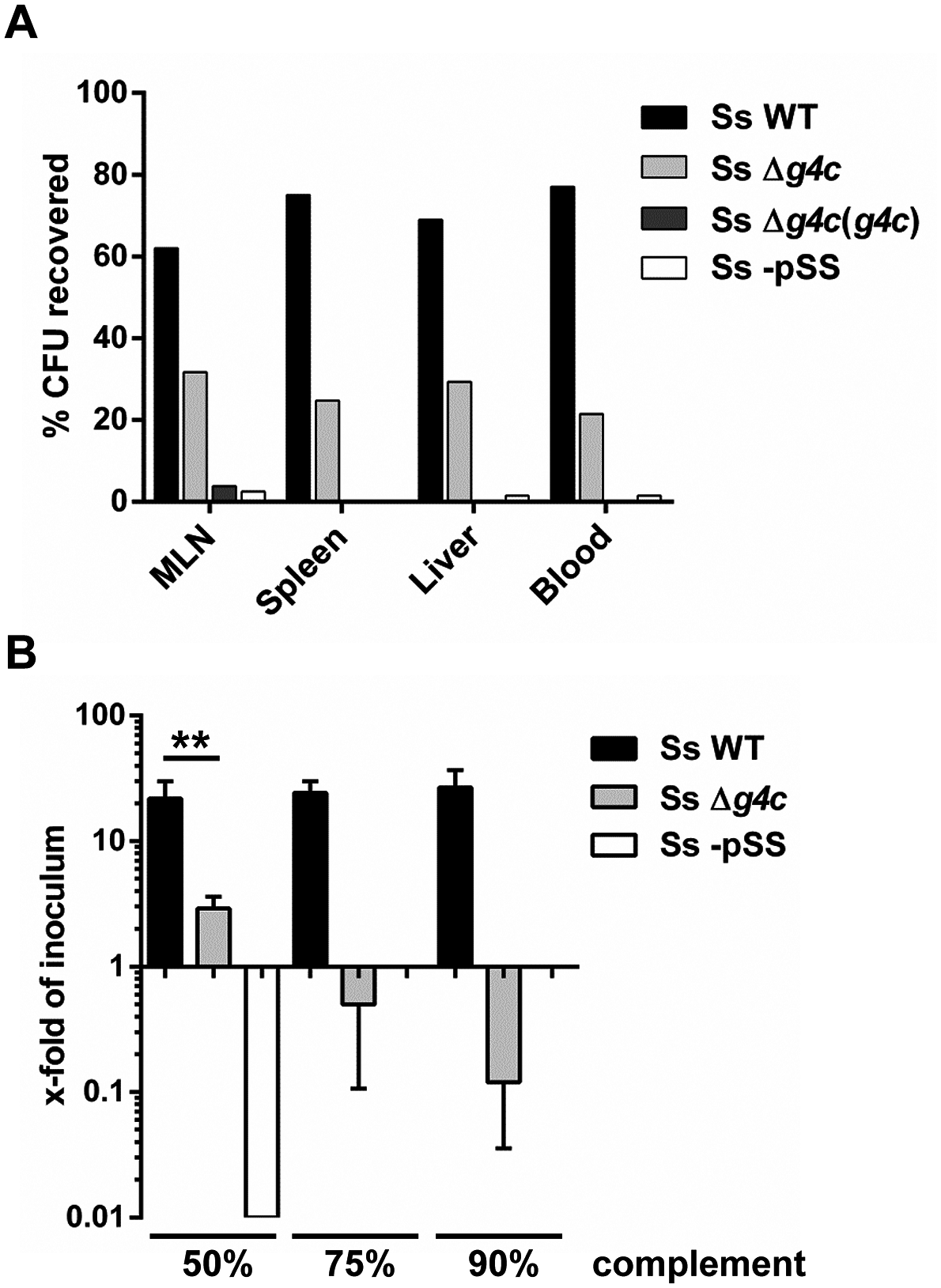 Group 4 capsule affects <i>S</i>. <i>sonnei</i> peripheral spreading and sensitivity to direct complement lysis.