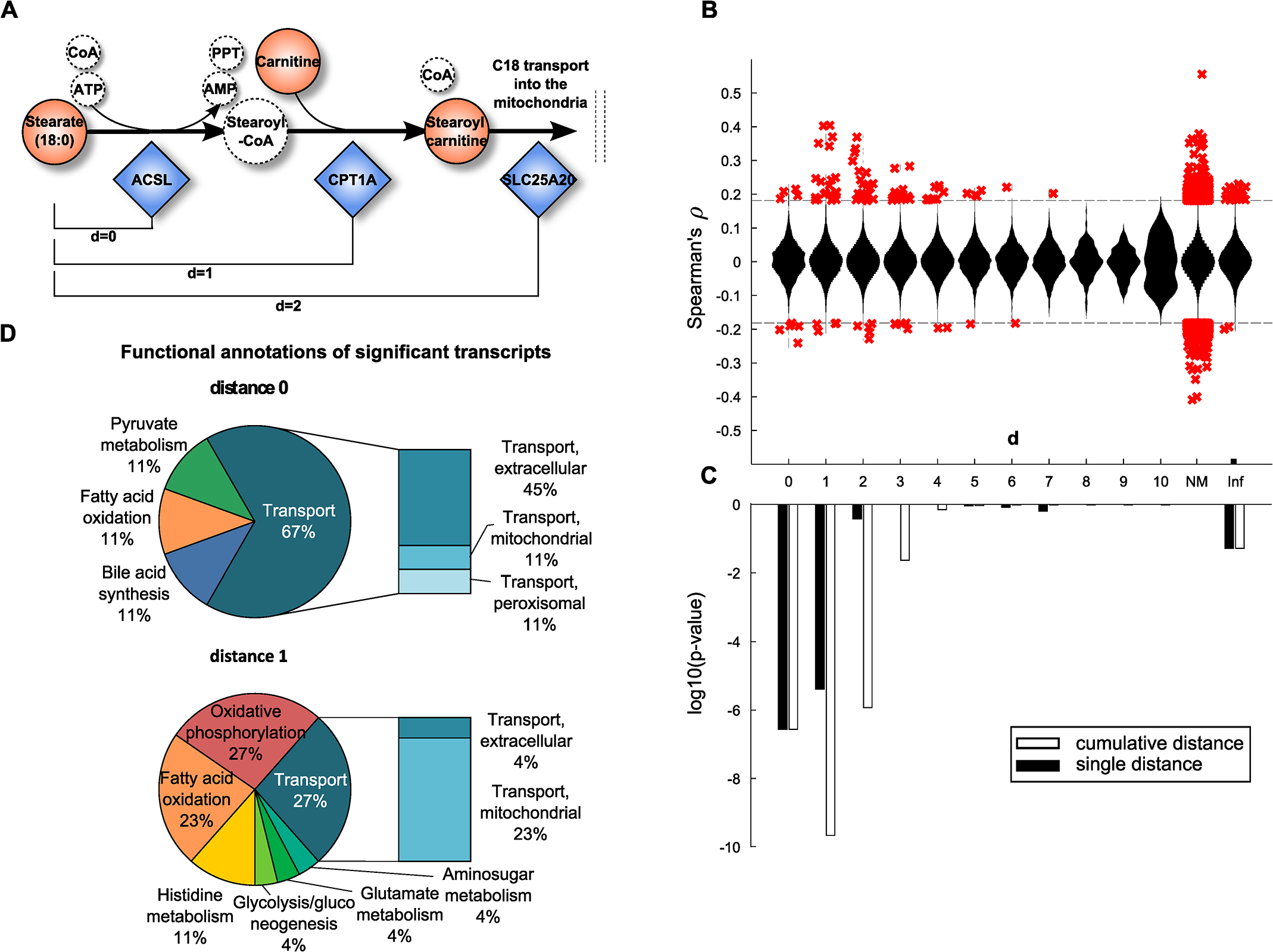 Model-based evaluation of metabolite-mRNA correlations.