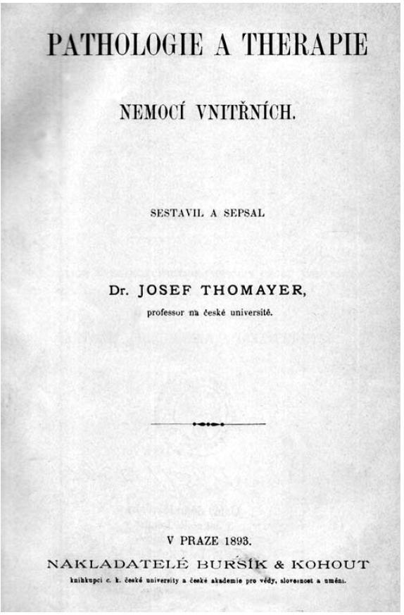 Učebnice <em>Pathologie a therapie nemocí vnitřních</em>