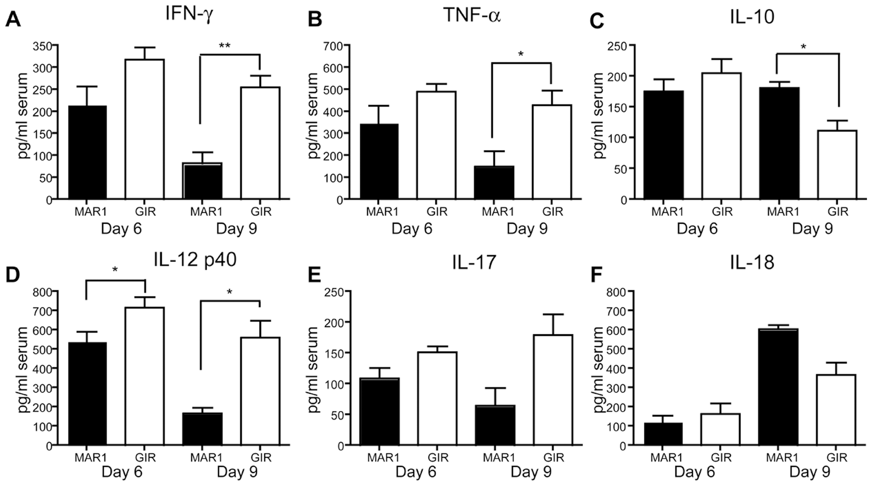 Effect of MAR1-5A3 treatment on serum inflammatory cytokines.