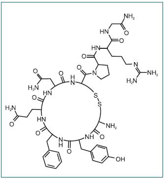 Adiuretin chemický vzorec.