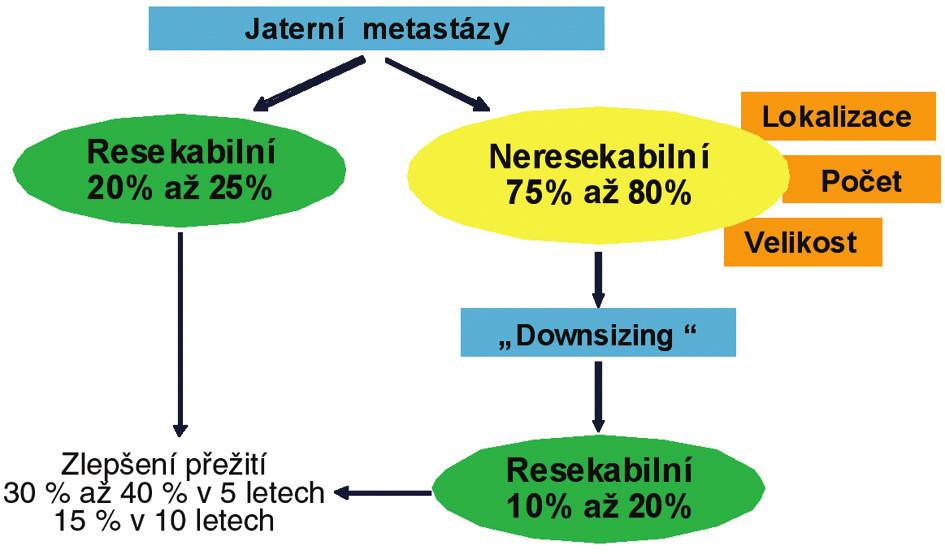 Algoritmus terapie jaterních metastáz KRK