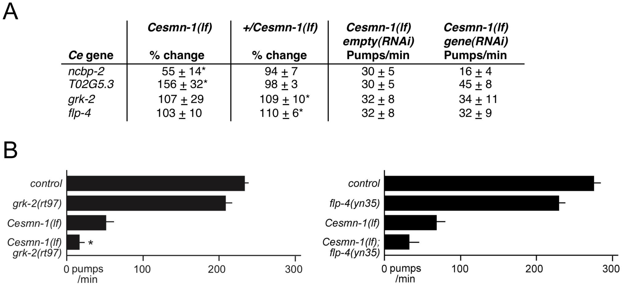<i>C. elegans</i> RNAi screen identifies conserved SMN modifier genes.