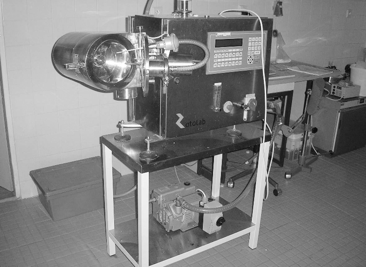 Jednostupňový granulátor s vakuovým sušením Rotolab ZANCHETTA