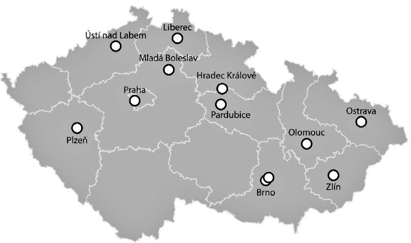 Do projektů EPOSS & SEPSIS-Q se zapojilo 18 klinických pracovišť z České republiky. Seznam pracovišť je uveden v příloze