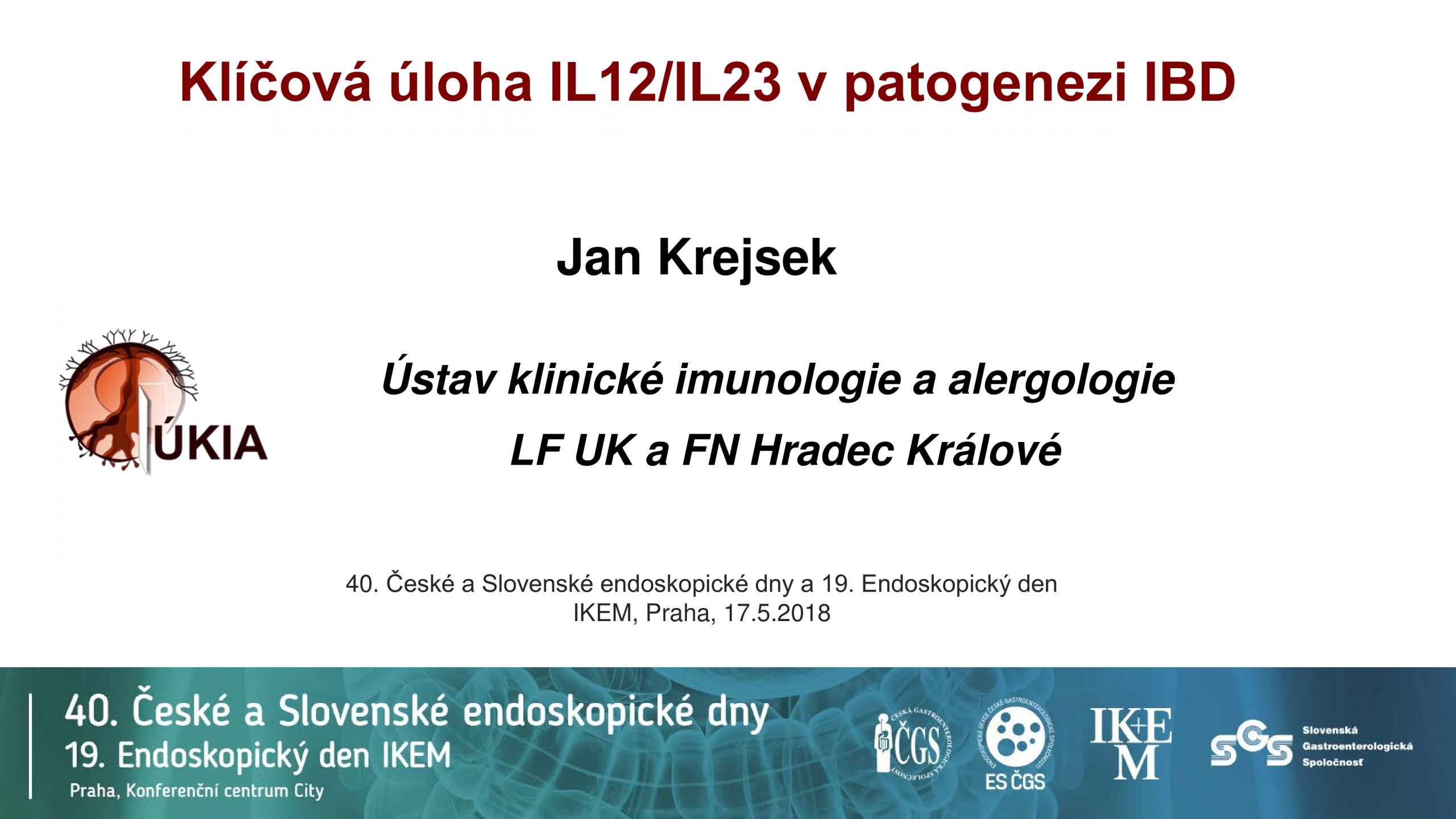 Klíčová úloha IL12/IL23 v patogenezi IBD - 0