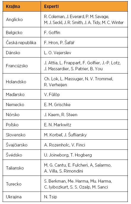 Panel expertov EOTTD (Európska organizácia pre liečbu trofoblastovej choroby)