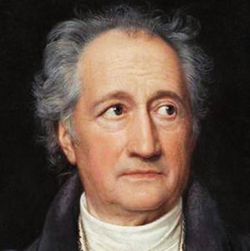 Johann Wolfgang Goethe; jeho verše Purkyně překládal a setkal se s ním i osobně ve Výmaru