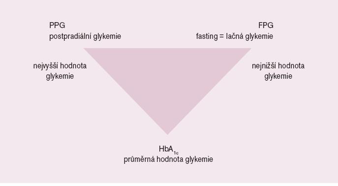 Schéma 1. Základní vyšetřované ukazatele glukózového metabolizmu.