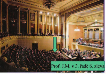 Prof. Marek byl vždy citlivým posluchačem vážné hudby.