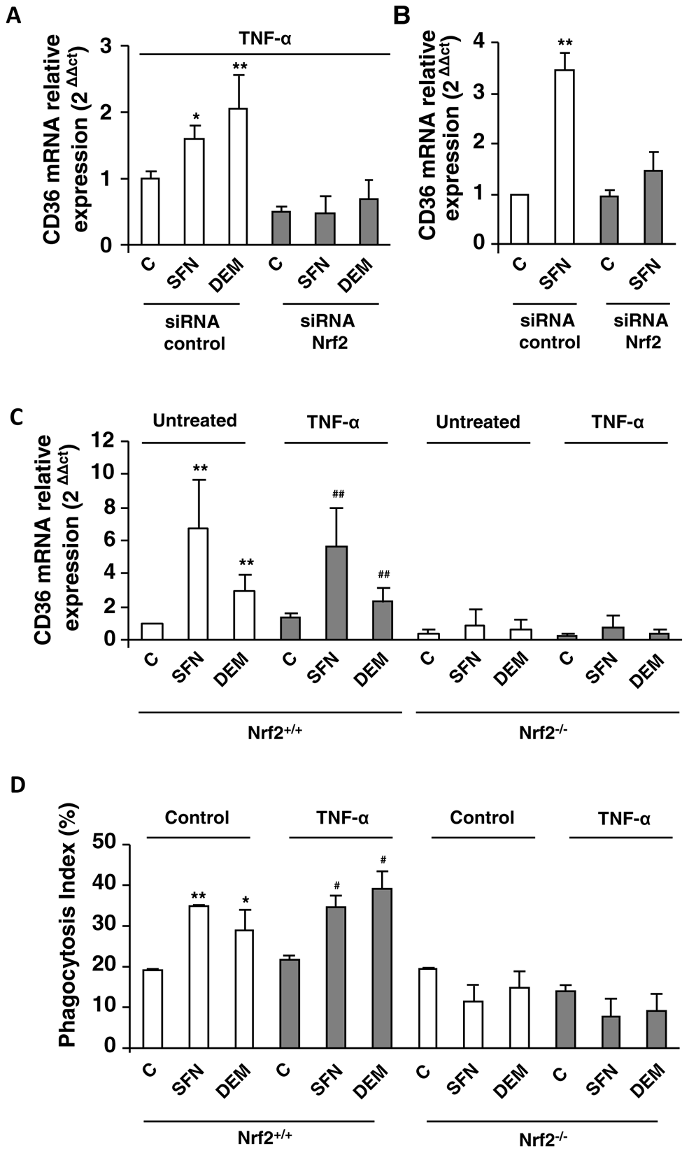 Nrf2 transcription factor is involved in CD36 overexpression during inflammatory processes.