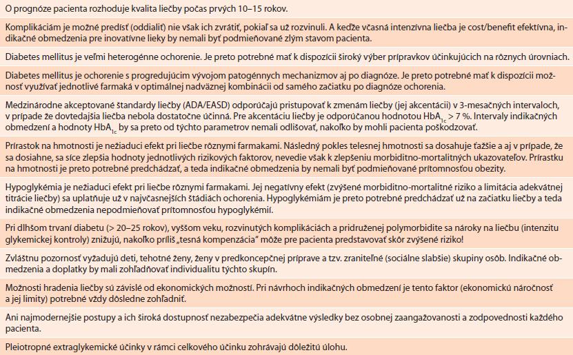 Hlavné argumenty OPS a SDS používané pri návrhoch znení indikačných obmedzení