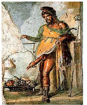 Řecký bůh plodnosti Priapos.