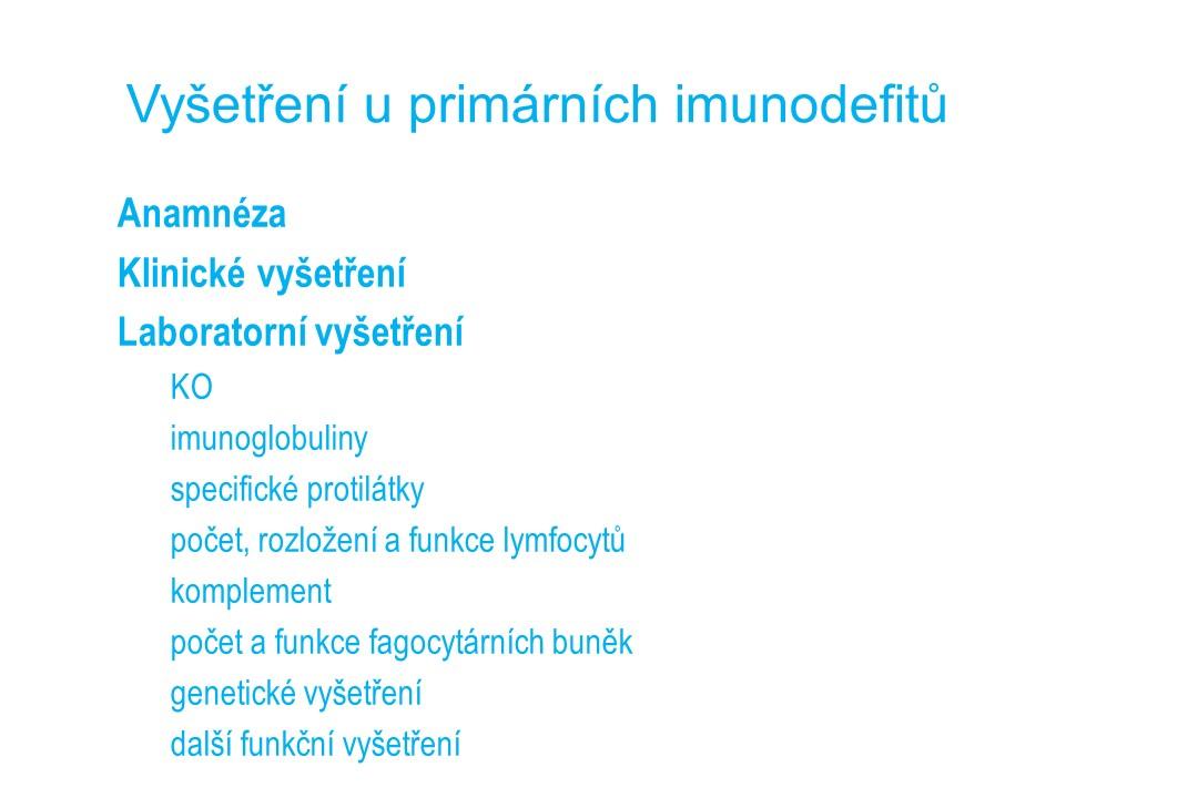 Imunodeficience - 27