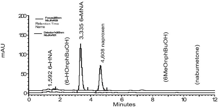 Biotransformační studie nabumetonu v plazmě