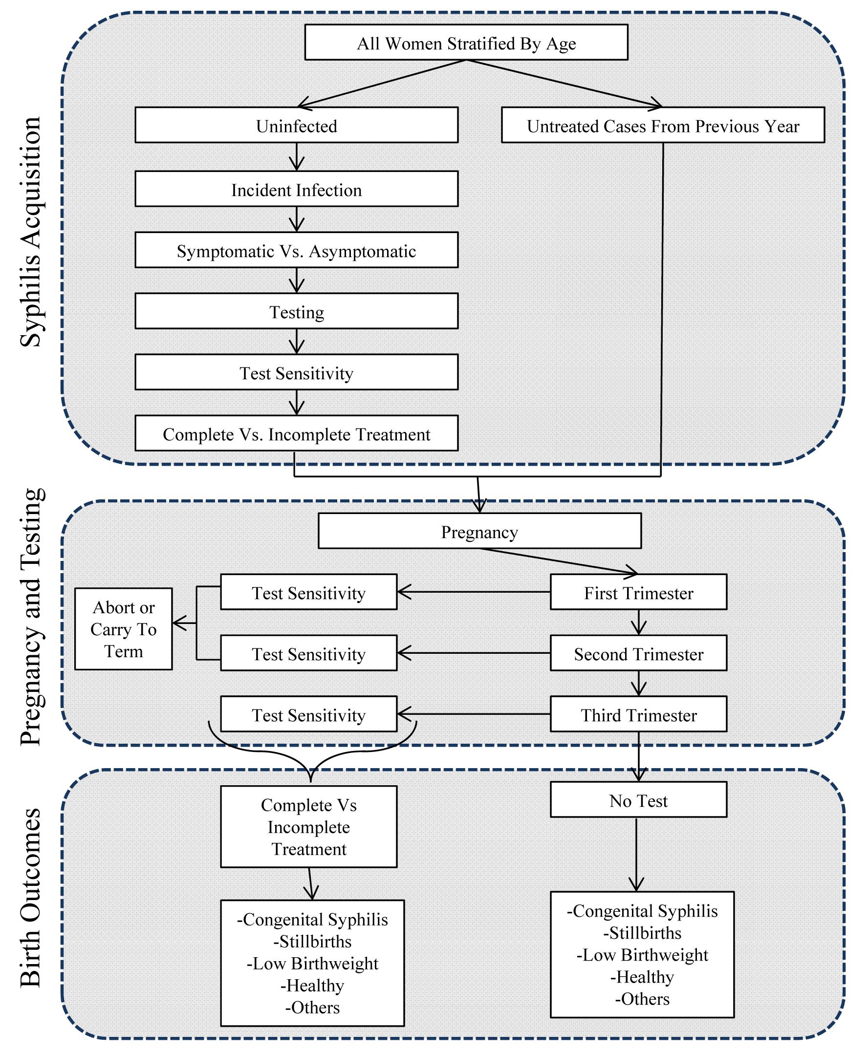 Decision analytic model.