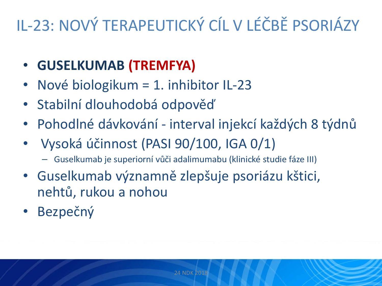 IL-23: Nový terapeutický cíl v léčbě psoriázy - 23