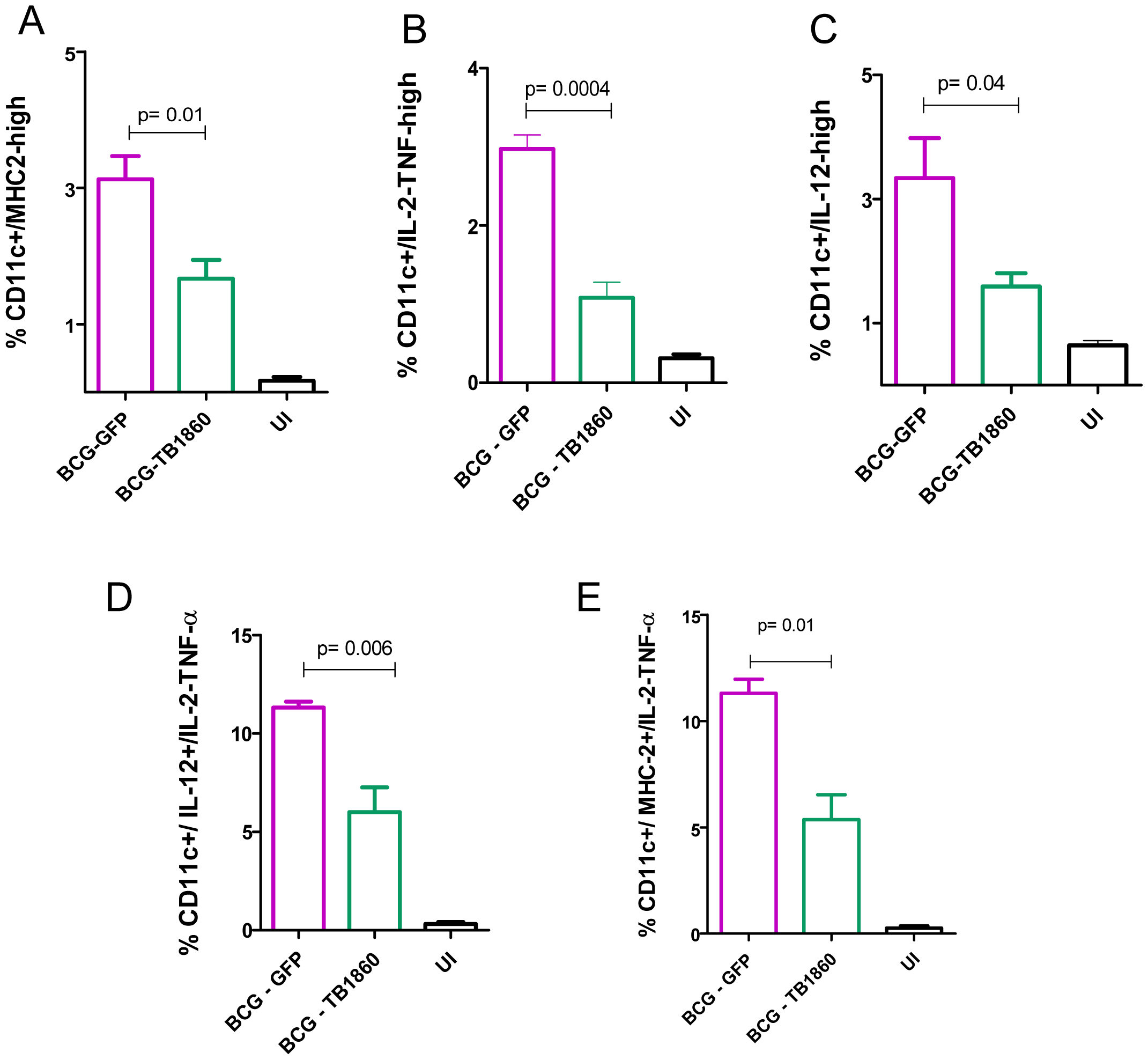 Analysis of spleen DC <i>ex vivo</i> from infected mice.