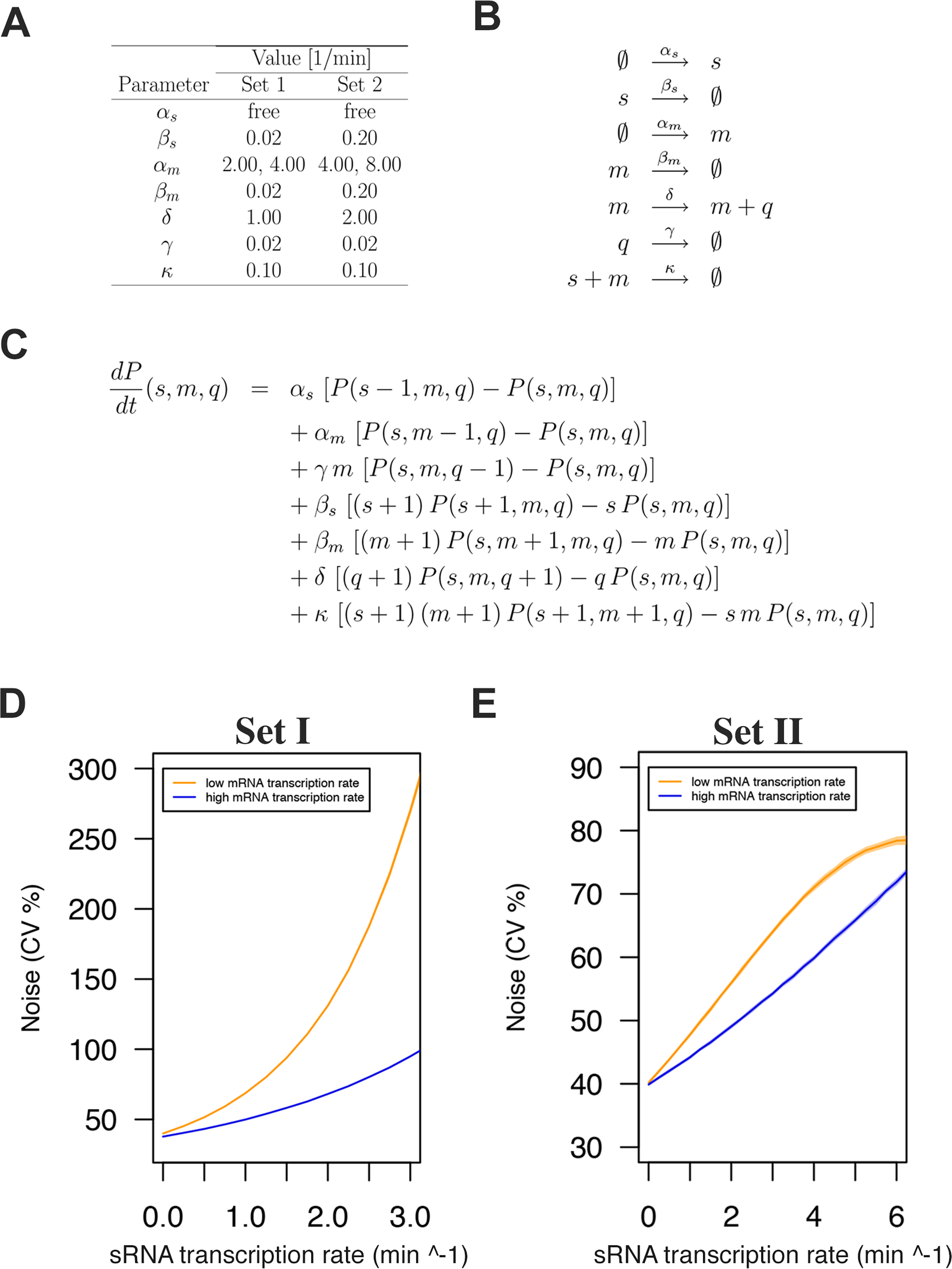 sRNA regulation increases protein expression noise in a stochastic simulation model.