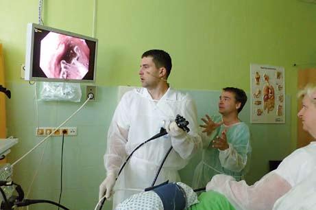 HALO systém u Barrettova jícnu. Fig. 3. HALO system – Barrett´s esophagus.