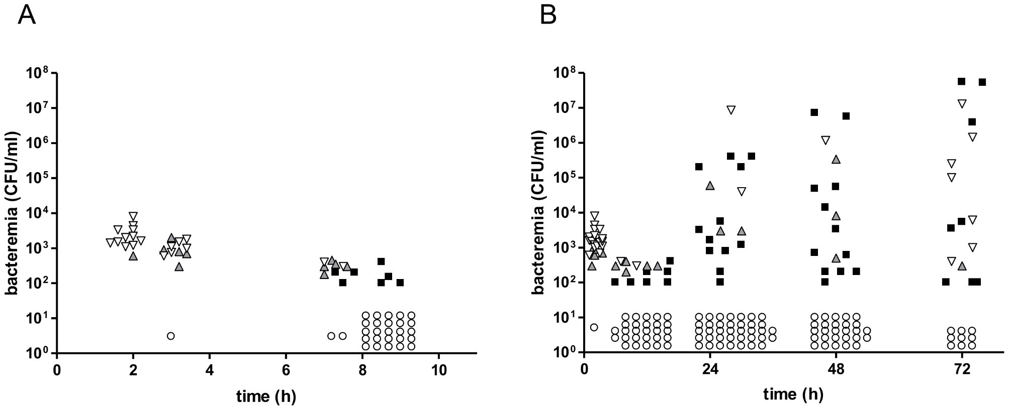 Co-infection of CD1 mice with three isogenic variants of <i>S. pneumoniae</i> TIGR4.